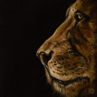 LION_Oil_on_paper_15x15_2012