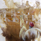 AJIT_SINGH_&_SWARAJ_ink_&_oil_on_paper_70x50_2011