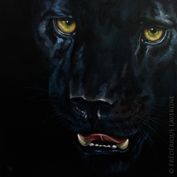MELANISTIC IV Oil on canvas 40x40 2012
