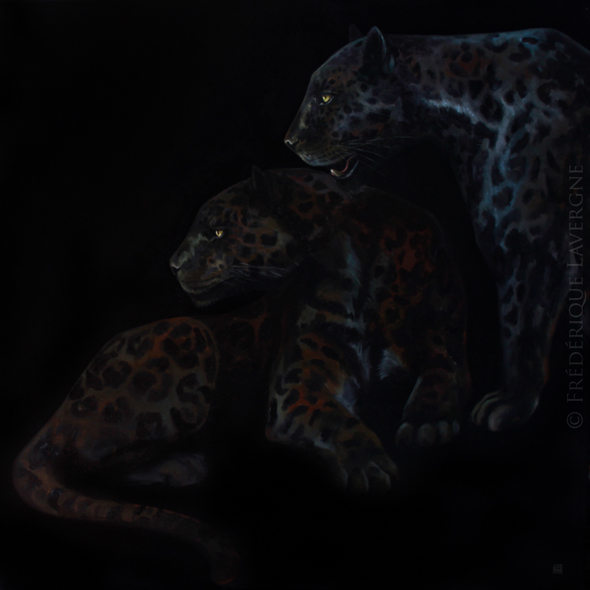 MELANISTIC VI oil on canvas 80x80 2012